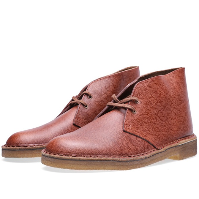clarks original desert boot x horween leather journal