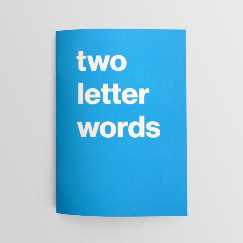 Book of two letter words journal nothing major for Furniture 5 letters word whizzle